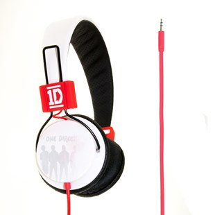 One Direction Line Up Headphones White