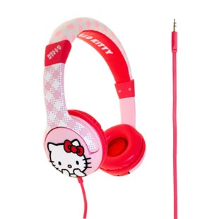 Hello Kitty Pink Gingham Headphones