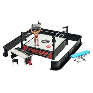 WWE Ringside Battle Playset with Figure & Accessories