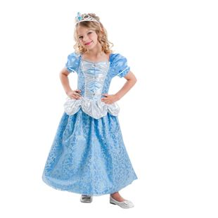 Blue Princess Dress Costume with tiara Medium