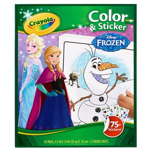Disney Frozen Colour & Sticker Book