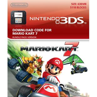 Mario Kart 7 3DS Download Card