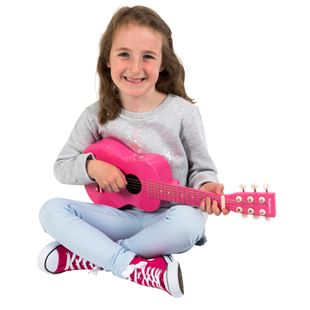 21 Inch Pink Guitar