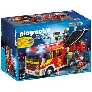 Playmobil Group fire-fighting-vehicle with Light and Sound