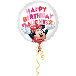 Disney Minnie Mouse Happy Birthday Daughter Foil Balloon