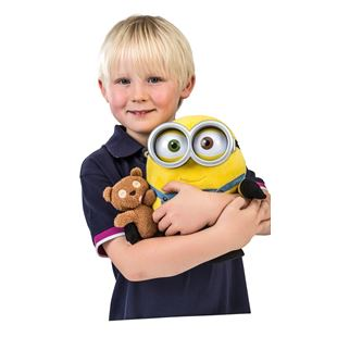Minions 25cm Minion Bob Talking Plush with Teddy Bear