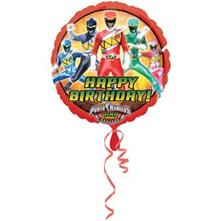 Power Rangers Happy Birthday Foil Balloon