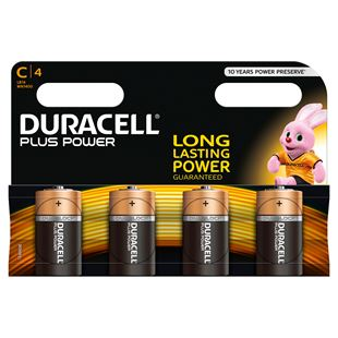 Duracell C 4 Pack of Batteries