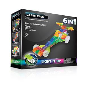 Laser Pegs 6 in 1 Zippy Do Dragster