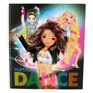 TOP Model Dance Colouring Book