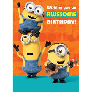 Minions Birthday Card