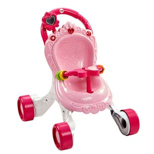 Fisher-Price Princess Stroll-Along Musical Walker