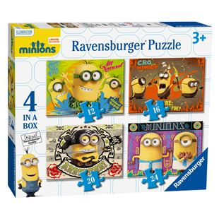 Ravensburger 4 in a box Minions Puzzles