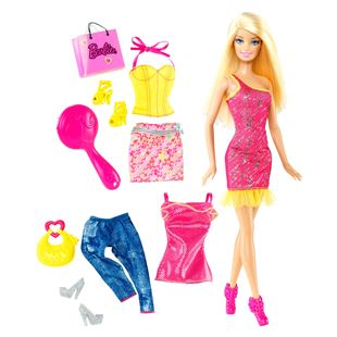 Barbie Doll and Fashion Outfit Set