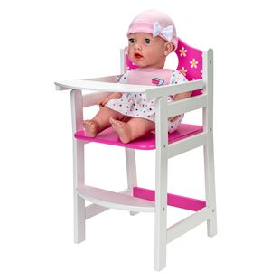Dolls Wooden High Chair