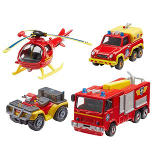 Fireman Sam Diecast Vehicles 4 Pack