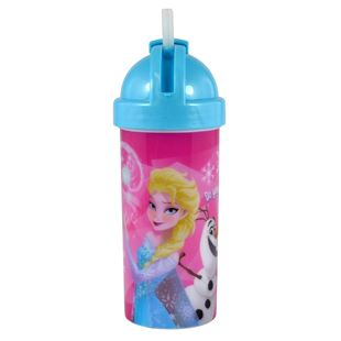 Disney Frozen Bottle with Pop Up Straw