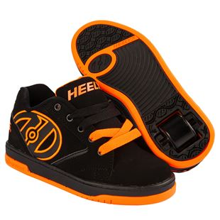 Propel 2.0 Heelys, Black/Bright Orange Size 3