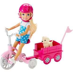 Barbie Chelsea Doll with Puppy and Trike