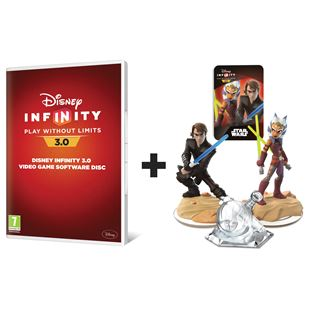 Disney Infinity 3.0 Video Game Software Disc and Twilight of the Republic Playset PS4