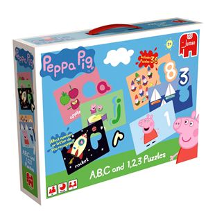 Peppa Pig A,B,C and 1,2,3 Jigsaw Puzzles