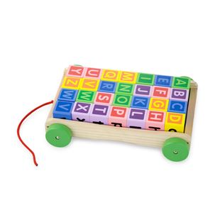 Alphabet Wooden Pull Along Blocks Truck