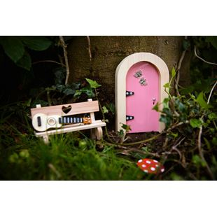 Irish Fairy Door Pink Round