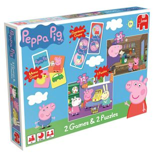 Peppa Pig 2 Games and 2 Puzzle Set
