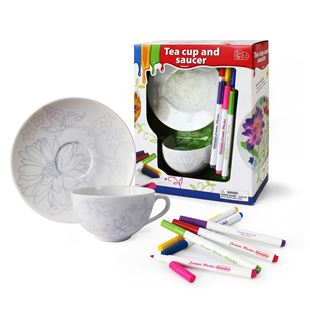 Paint Your Own Tea Cup and Saucer Set