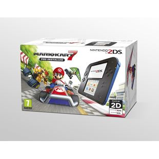 Nintendo 2DS Blue & Black Console with Mario Kart 7