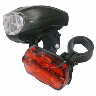 Front and Rear Bicycle Light Set