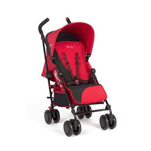 Silver Cross Pop 2 Pushchair-Black/Chilli