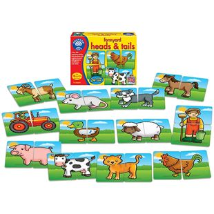 Farmyard Heads and Tails Card Game