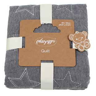 Playgro Star Quilt Grey