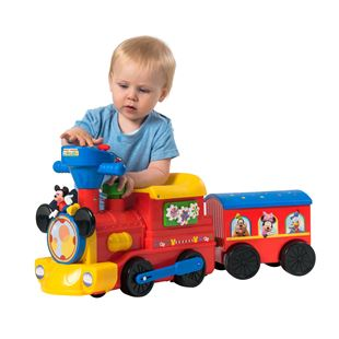 Disney Junior 2-in-1 Motorized Mickey Mouse Train with Trailer