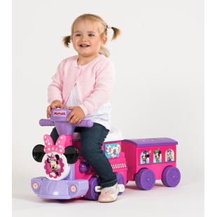 Disney Junior 2-in-1 Motorized Minnie Mouse Train with Trailer