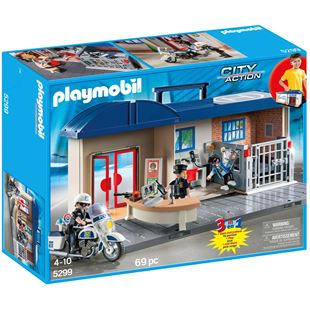 Playmobil City Action Take Along Police Station 5299