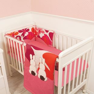 toTs by smarTrike Joy Sateen Pink Rabbits Bedding Set