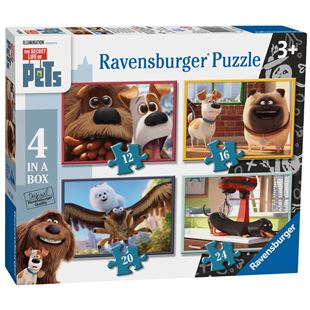 Ravensburger The Secret Life of Pets 4 in a Box Jigsaw Puzzles