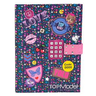 TOP Model Diary with Locking Code - Assortment