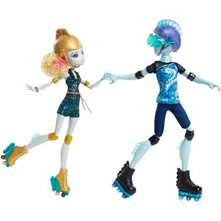 "Monster High Lagoona Blue & Gillington ""Gil"" Webber Wheel Love Dolls"