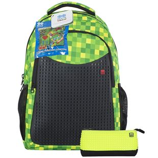 PIXIE CREW Green Backpack and Pencil Case