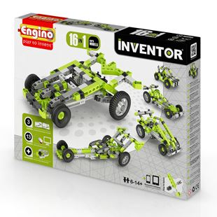 Engino Inventor 16 in 1 Car Models Set