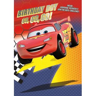 Disney Cars No Age Birthday Card Boy