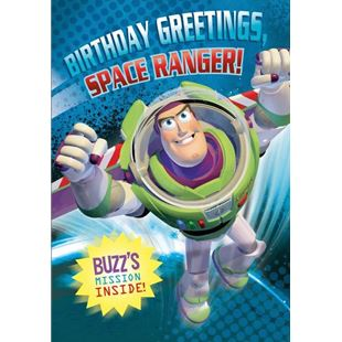 Disney Toy Story Buzz Lightyear No Age Birthday Card