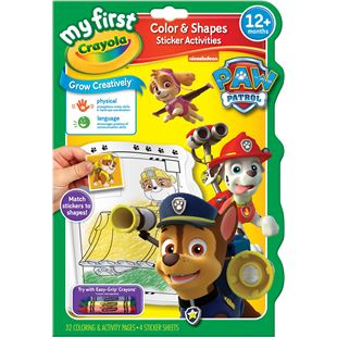 Crayola Paw Patrol Colour and Shapes Sticker Activity Book