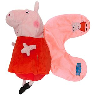 Peppa Pig 2 in 1 Reversible Travel Pillow