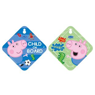 Peppa Pig George Child On Board Sign