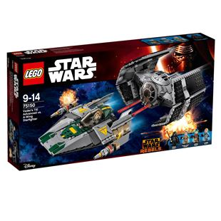 LEGO Star Wars Rebels Vader's TIE Advanced vs. A-Wing Starfighter 75150