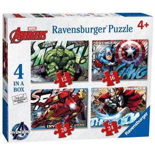 Ravensburger Marvel Avengers Assemble 4 in a Box Jigsaw Puzzles